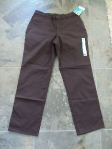 Women#x27;s Lee All Day Pant Brown Relaxed Straight Leg 10S NWT * $12.99