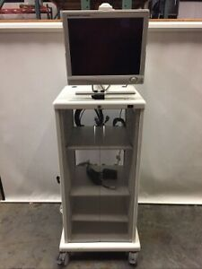 Stryker 240 030 930 Vision Elect Hd Monitor W Endoscopy Tower Cabinet