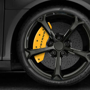 Yellow Mgp Caliper Covers W 5 0 For 2010 2014 Ford Mustang set Of 4