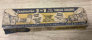 Vintage Snap On Tools Corp Combo 2 In 1 Thread Chasers Tdc 3 Vtg Old Box