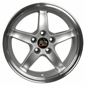 17 Silver W mach d Lip Wheel 17x9 Fit For Mustang Cobra R Deep Dish Style