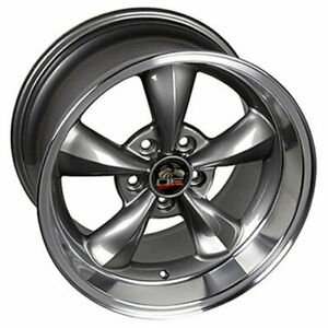 17 Anthracite W mach d Lip Wheel 17x10 5 Fit For Mustang Bullitt Style Rim