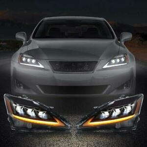 Vland Pair Led Projector Headlights For 2006 2012 Lexus Is 250 Is 350 Isf New