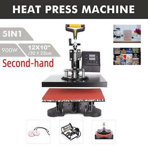 Secondhand 5in1 T Shirt Heat Press Machine For Mug Hat Plate Cap Mouse Pad 900w