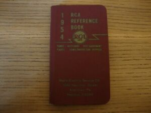 1954 Rca Reference Book Tubes Batteries Semi conductor Test Equipment Parts Alle