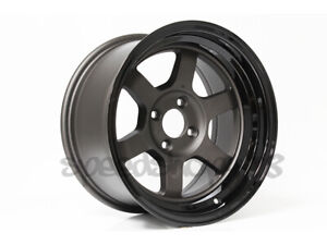 Rota Grid V Wheels Gunmetal Black Lip 15x9 0 4x100 Xb Civic E30 Integra Miata