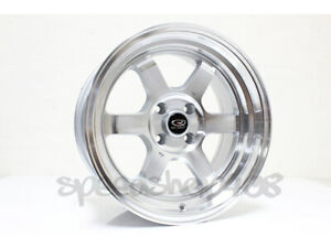 Rota Grid V Wheels Polish 16x8 0 4x100 67 1 Hub Civic Eg Integra Dc Miata