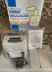 Digital Time Attendance Time Recorder Clock Weekly Monthly With Timecards New
