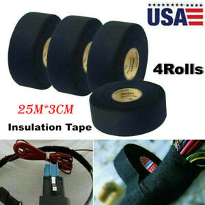 4rolls Car Cloth Tape Wire Electrical Wiring Harness Insulation Tape 25m 3cm Hot
