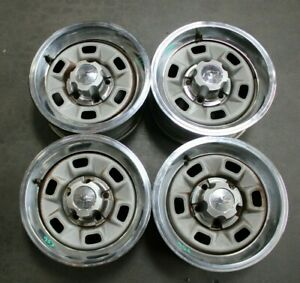 Set Of 4 71 80 Chevy Camaro Chevelle Nova Rally Wheel Rim 14x6 14 953 00362059
