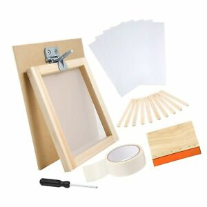 Caydo 27 Pieces Screen Printing Starter Kit Include 8 X 10 Inch Silk Screen P