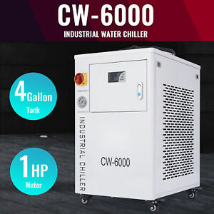 Cw 6000 Industrial Water Chiller For Co2 Laser Engraver Cnc Machine 15l Capacity