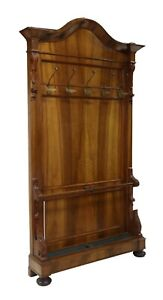 Antique Hall Tree Louis Philippe Period Walnut Hall Tree French