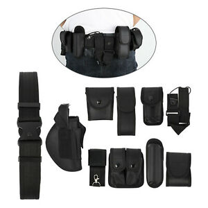 10 in 1 Black Law Enforcement Modular Equipment System Police Security Duty