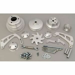 March Performance 23063 Pulley Kit Serpentine Aluminum For Chevy Big Block New