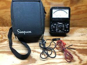 Simpson 260 Series 8p Overload Protection Analog Multimeter W leads case