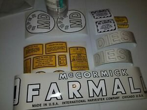 Decal Set International Harvester Farmall Super Md 1952 To 1954 Tractors New