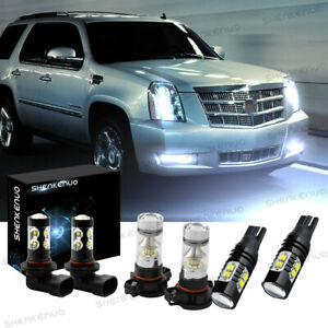 For 2007 2014 Cadillac Escalade Esv Front Fog Driving Drl Lamps Led Lights Kit C