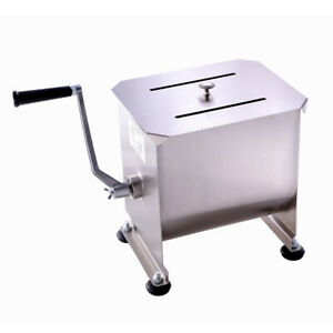 New Hakka 20 Pound 10 Liter Commercial Meat Mixer Stainless Steel Manual Machine