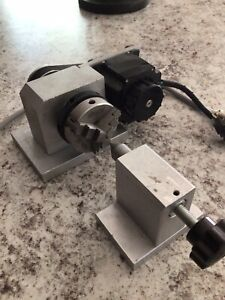 Cnc Router Rotational Rotary Axis 50mm 3 Jaw Chuck tailstock 4th axis Engraver