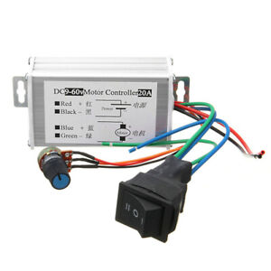 Dc 9v 60v Max 20a Pwm Motor Stepless Variable Speed Control Controller Switch