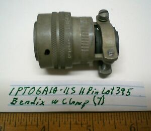 1 Pt06a18 11s sr Military Connector W clamp Bendix Lot 395 Made In Usa