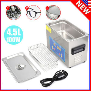 4 5l Ultrasonic Cleaner Ultra Sonic Bath Heater Tank Timer Jewelry Watch Clean