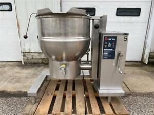 Groen Dht 1 40 40 gallon Jacketed Stainless Steel Natural Gas Tilting Kettle