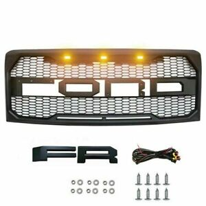 Grille Fit For 2009 2014 Ford F150 Raptor Style Front Bumper Grill Matte Black