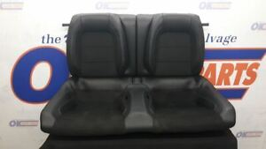 16 Mustang Shelby Gt350 Rear Back Seat Black Leather And Suede