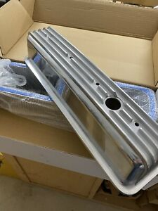 Sbc Finned Chevy 350 Tall Aluminum Valve Covers Center Bolt Incl Felpro Gaskets