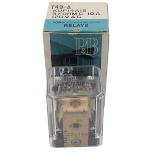 Kup Series Power Non Latching Relay 3pdt 120vac 10a Potter Brumfield