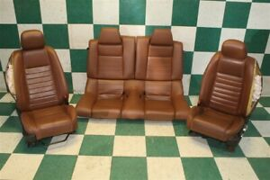 dmg 10 12 Mustang Coupe Brown Leather Power manual Buckets Backseat Set Oem