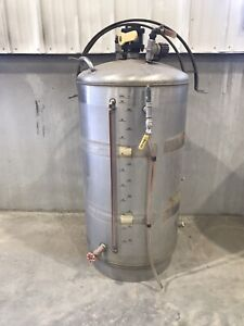 Stainless Steel 60 Gallon Upright Tanks Used