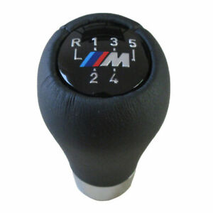 5 Speed Real Leather Gear Shift Knob For Bmw 5 7 Series Sport M E36 E46 E34