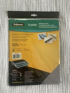 Fellowes Standard Clear Presentation Covers 25 Count 8 5 X 11 Crc 52043