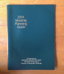 2014 Planner Monthly Layout Planning Guide Calendar 9 5 X 7 In