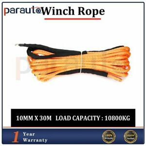 Winch Rope Line Synthetic Cable Off Road Atv Utv New Orange 23000lbs 2 5 X 100