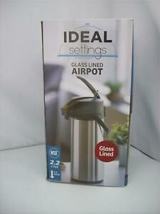 New Open Ideal Setting Commercial Airpot 2 2l Glass Lined Lever Lid Swivel Base