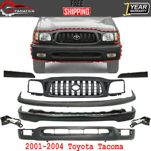 Front Bumper Primed Kit With Brackets grille filler For 2001 2004 Toyota Tacoma