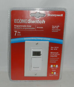 Honeywell Econoswitch Rpls530a 7 Day Programmable Timer Automatic Light Switch