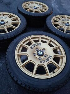 17x7 5 Sparco Terra Rally Gold Rims With Tires