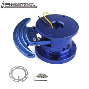 Steering Wheel Blue Racing Quick Release Hub Kit Adapter Body Removable Kit