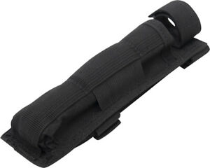 Black Long Molle Holder For Baton Pouch With Bottom Hook And Loop Web Strap