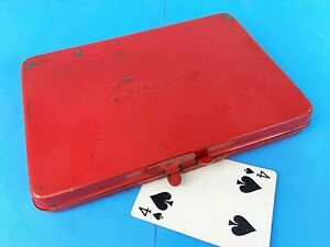 Classic Snap On 1975 Metal Tool Box Case 6 x 8 Vintage Underlined Logo Kra 275