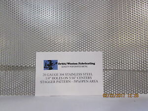 1 4 Holes 20 Gauge 304 Stainless Steel Perforated Sheet 12 X 24