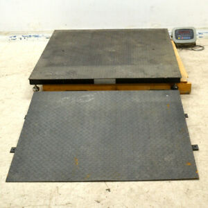 Industrial Commercial Scales 209357 no 11 Floor Scale With Ramp And Calculator
