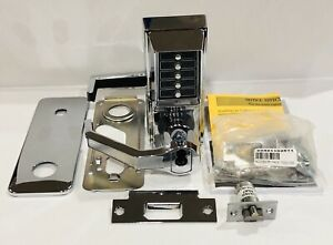 Kaba Simplex Ll1021s02641 Mechanical Cylindrical Pushbutton Lock Bright Chrome