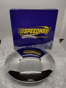 Speedway Motors Baby Moon Hub Cap For Smooth Steel Wheels Chrome Plated 8 25