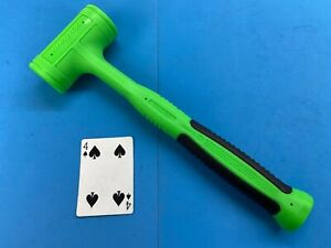 New Snap On 32oz Green Handle Soft Face Dead Blow Hammer Hbfe32 Large Logo Usa